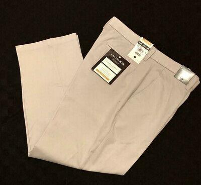 HAGGAR Luxury Comfort Pants Classic Fit 4 Way Stretch Flex Waist Stone $75 - Haggar Comfort Fit