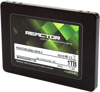 """New Mushkin Reactor 1TB SSD Solid State Drive 2.5"""" Internal SATA III MKNSSDRE1TB"""