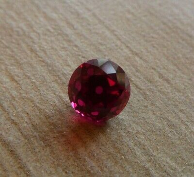 XL Old European Antique Cut Blood Red Ruby Round 7.2 millimeters