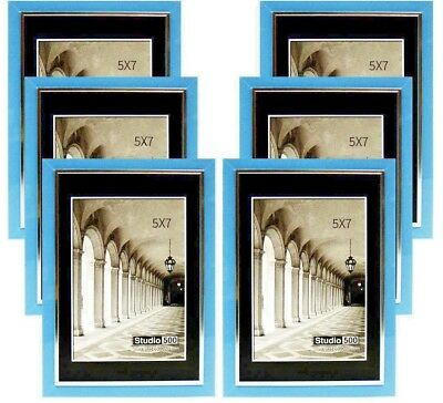 Studio 500 5 by 7-inch Modern Collection, Sleek Frames Blue w/Silver Line 6 (Glasses Frames Ebay)