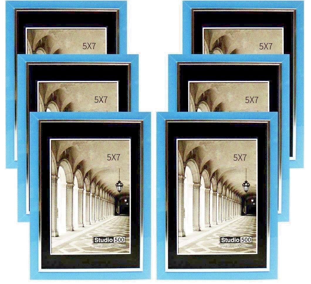 2~Studio 500 5 by 7-inch Modern Collection, Sleek Frames Blu