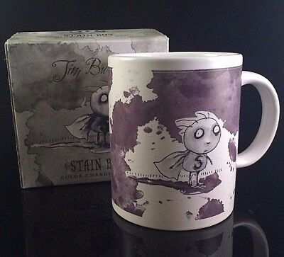 DARK HORSE TIM BURTON STAIN BOY COLOR CHANGING COFFEE CUP / MUG DELUXE BOX