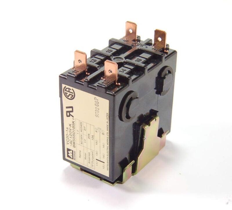 NEW - NAIS AROMAT VC20-1A-AC120V-K Relay Contactor: 120VAC 20A