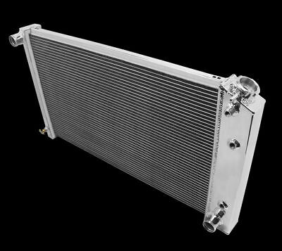 Fit 1971 86 Chevy C10 C10 Pickup 3 Rows all aluminum radiator w26 wide core