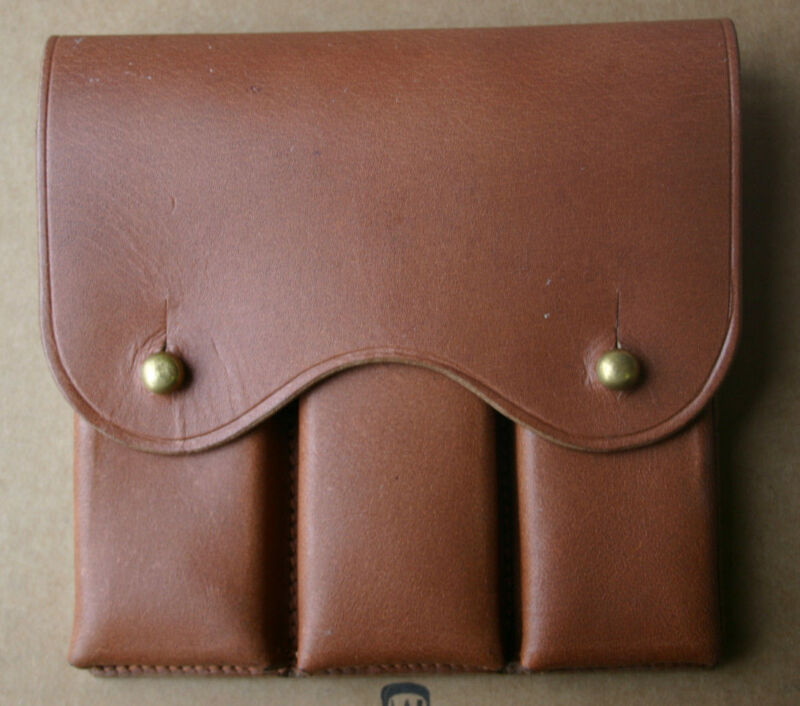 Leather Magazine Pouch for M1911 .45 Auto WWI British or Canadian