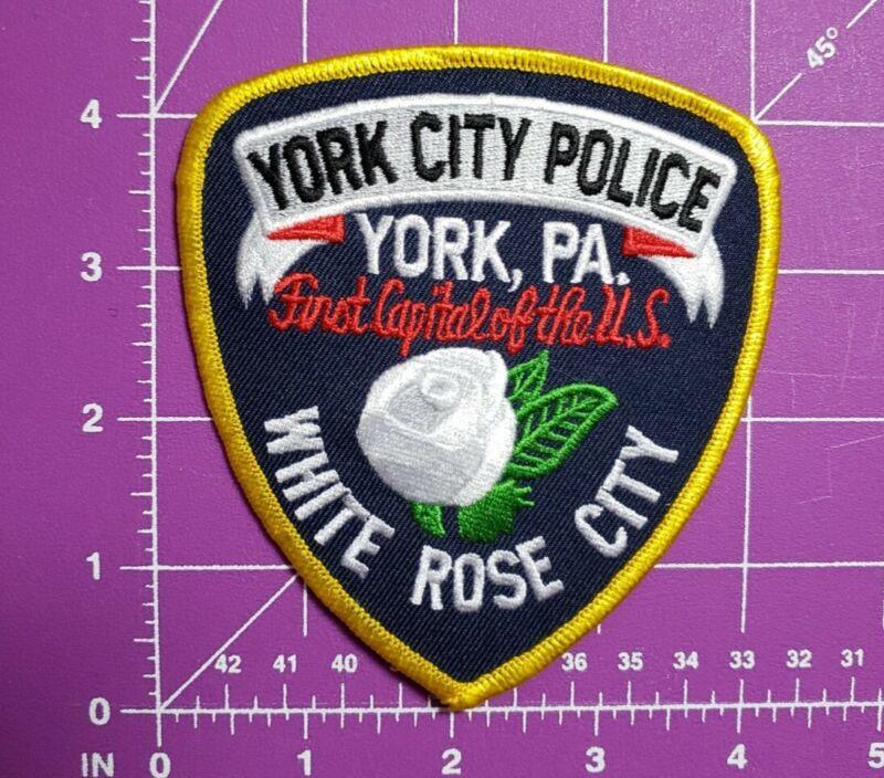 "York City Pennsylvania Police-shoulder patch ""White Rose City"""