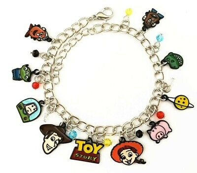 Toy Story 12 Characters Themed Charms Metal Charm Bracelet