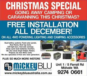 4X4 ACCESSORIES, FREE CAMPING POWER, FREE INSTALLATION EXTENDED Midvale Mundaring Area Preview