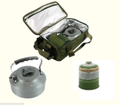 Insulated Camp Kit Bag with Kettle & Gas For Stove Carp Fishing Tackle Bivvy