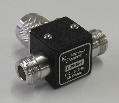 6 dB Power Splitter,2 Way,50 Ohm,N(m) & N(f),DC-6 GHz,New,PWRSP1