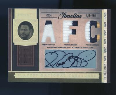 2006 National Treasures Jerome Bettis 13/25 Steelers Patch Auto