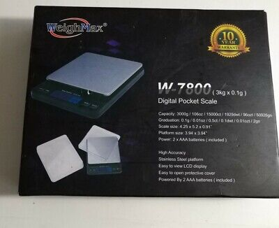 Weighmax Digital 3000 X 0.1g Pocket Scale Light-weight Kitchen And Postal Scale