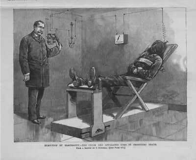 EXECUTION BY ELECTRICITY THE CHAIR AND APPARATUS USED IN PRODUCING DEATH PRISON