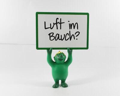 """Lefax Männchen === Pharma Werbefigur mit Schild """" Luft im Bauch """""""
