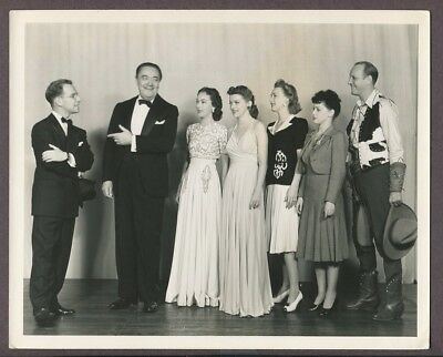 MR BIG 1941 Broadway Play RARE CAST PHOTO Fay Wray, Hume Cronyn, Harry Gribbon