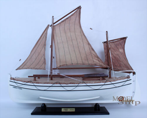 James Caird  - Handmade Wooden Model Boat