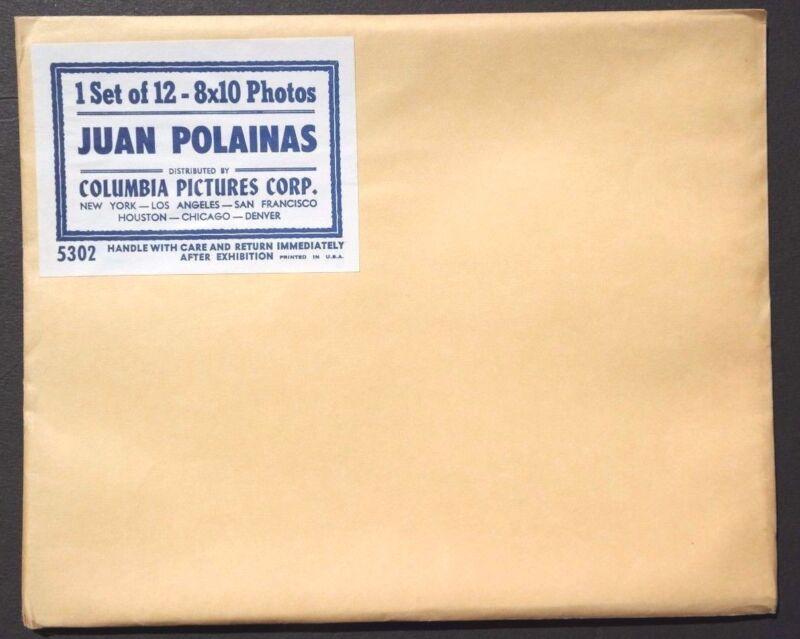 Sealed BLACK & WHITE Vtg Juan Polainas Movie Press Kit Photos (5302) 8x10