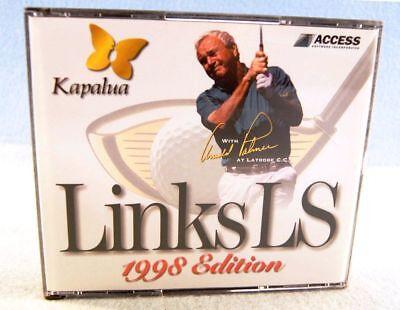 Links LS Kapalua Golf Simulation Game CD-ROM PC Win 95/98 1998 Golf Simulation Game