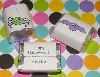 90 HERSHEY NUGGET LABEL Personalized Halloween Party Candy Sticker Wrapper Favor