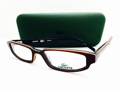 NEW AUTHENTIC LACOSTE EYEGLASSES LA 12206 BROWN  50•16•135 WITH CASE