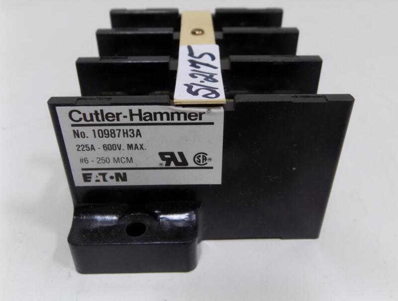 CUTLER-HAMMER 225AMP TERMINAL BLOCK 10987H3A