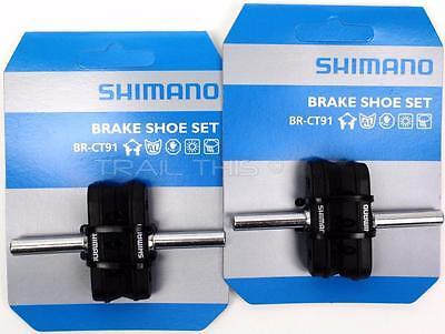 2-Packs Shimano BR-CT91 Altus Smooth Post Cantilever MTB Bike Brake Pads/Shoes 2 Cantilever Brake Pads