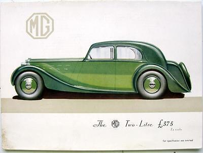 MG Two-Litre - Car Sales Brochure - Oct 1935