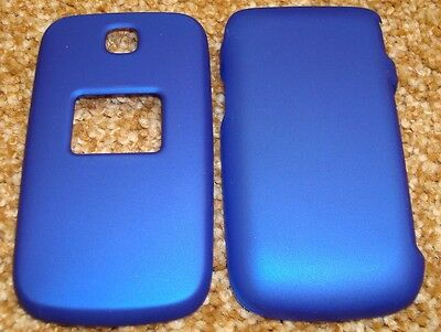BLUE Rubberized Hard Snap-on Case Cover for LG Envoy UN150, 221C 235C