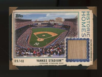 2019 Topps Historic Homes Yankee Stadium 9/40 Ballpark Used Seat