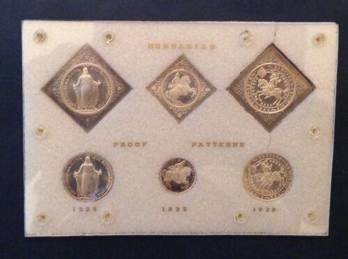 -Set of 6 Hungary 2 & 5 Pengo ARTEX Pattern Proof Restrike Round & Klippe Coins