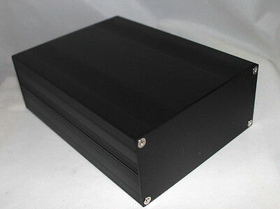Black Aluminum Project Box Enclosure Case Electronic Diy 203x144x68mm Us Stock