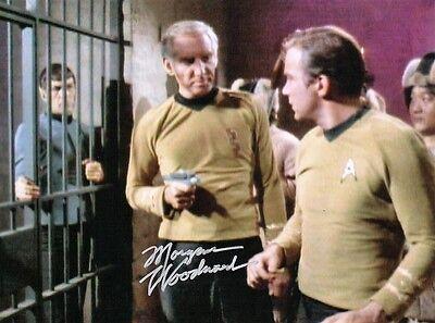 OFFICIAL WEBSITE Morgan Woodward STAR TREK Original TV Series 8x10 AUTOGRAPHED