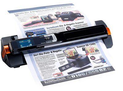 Somikon 2in1-Handscanner mobiler Scanner Dockingstation Papier Dokumentenscanner
