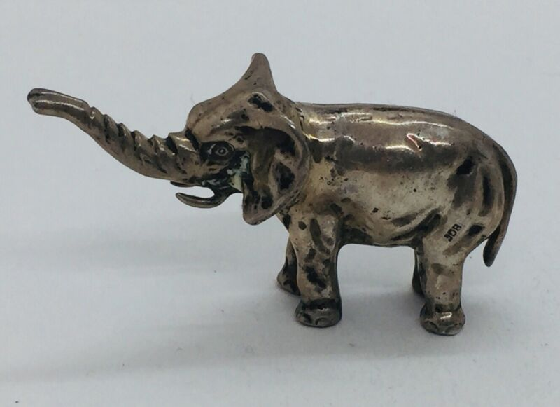 Antique Solid 800 Silver Figural Elephant Figurine 45g
