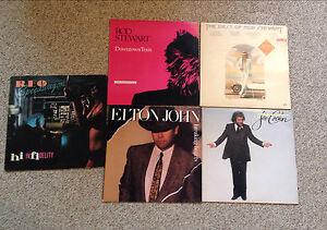 Five rock record albums vinyl