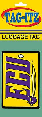 East Carolina Pirates Logo on a Soft Rubber  Luggage Tag East Carolina Pirates Logo