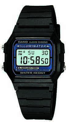 Casio Classic Men's Quartz Digital Black Resin Band 35.5mm Watch F105W-1A