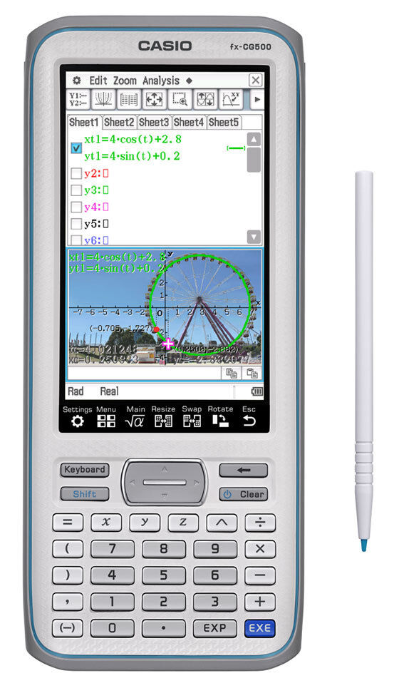 Casio FX-CG500 3D Color Graphing Calculator with CAS, Upgrad