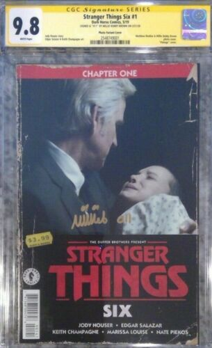 Stranger Things Six #1 photo variant__CGC 9.8 SS__Signed by Millie Bobby Brown