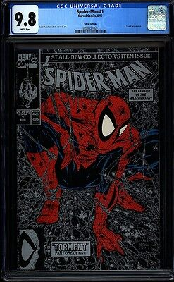 Spider-man 1 McFarlane CGC 9.8 Silver Cover Marvel Copper Age Key IGKC L@@K