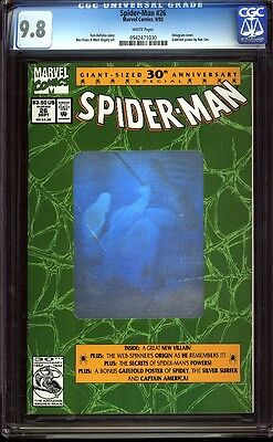 Spider-man (1992) 26 cgc 9.8 WP Copper key 3 of 4 Hologram Set IGKC L@@K