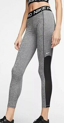 Nike Pro Leggings Womens Size M 12-14 Grey Exercise Yoga Running Pants