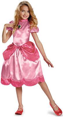 Prinzessin Peach Kinderkostüm Super Mario Videospiel rosa-pink Cod.224039