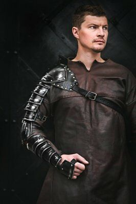 Medieval Metal Blackened sleeve shoulder arm armor for Spartacus cosplay larp