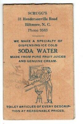 Scrugg's Drug Store Biltmore NC Vintage Bromo-Seltzer Note Pad Asheville (Biltmore Store)
