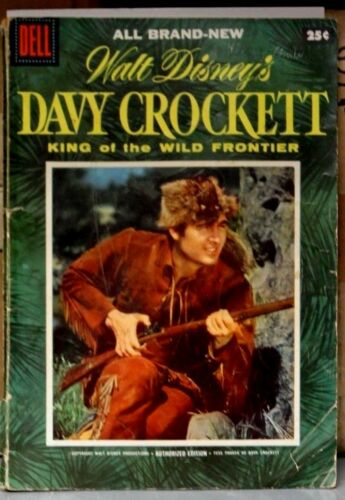 Dell Comic DAVY CROCKETT #1 1955 (GOLDEN AGE) FESS PARKER On Cover