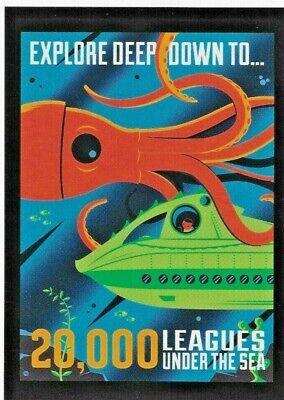 "Disney WONDERGROUND Postcard ""20,000 LEAGUES UNDER THE SEA"" Postcard by Perillo"