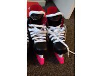 Girls Hockey Ice Skates - Size 1