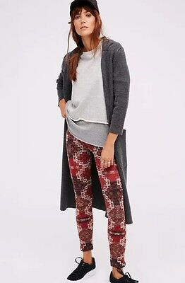 Free People Byzantine Sweater Leggings In Terracotta Combo Sz XS