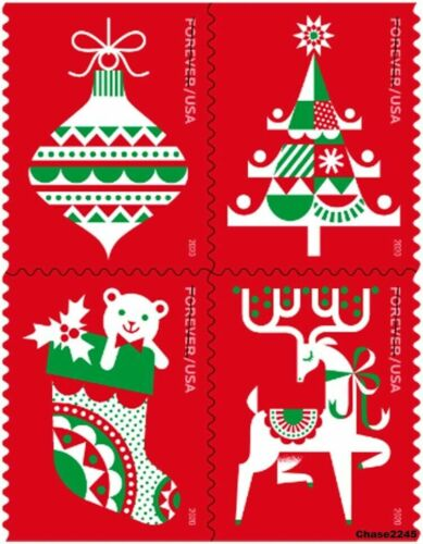 5525-28 Holiday Delights Booklet Block Of 4 Mint/nh Delivery After 9/24